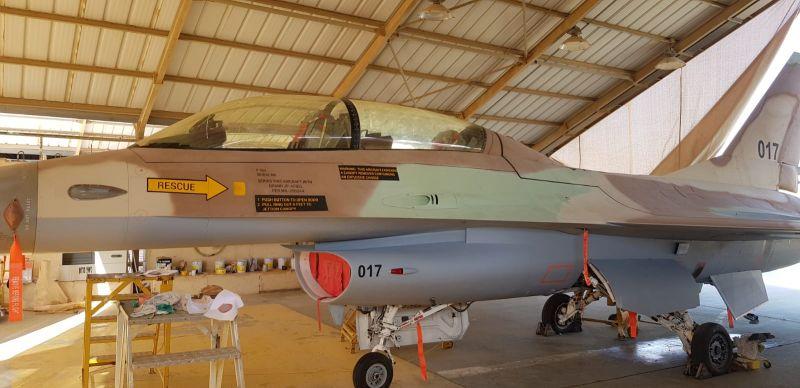 צביעה כללית מטוס F16